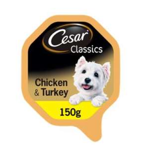 Cesar Classic Dog Tray with Chicken And Turkey in Loaf - 5 for £3 @ ASDA