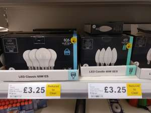 LED Light Bulbs - ES and SES - £3.25 pack of 4 instore @ Tesco (New Milton)