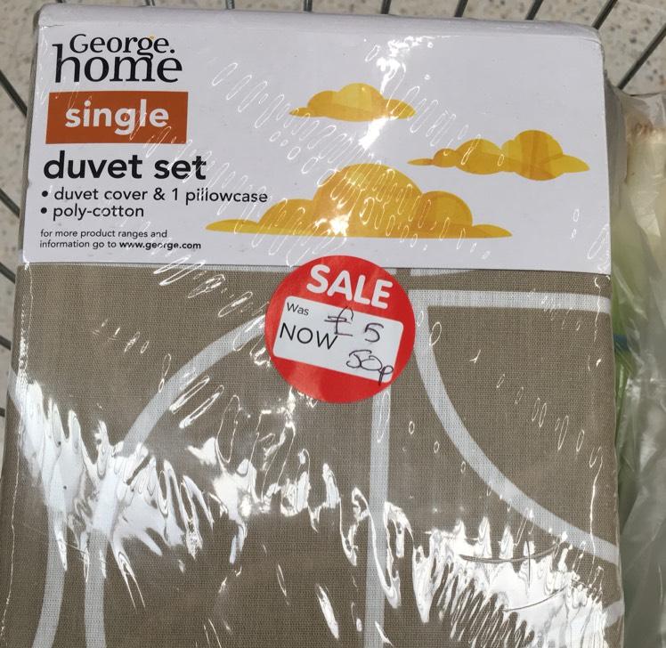 Single Duvet Set for 50p instore @ ASDA