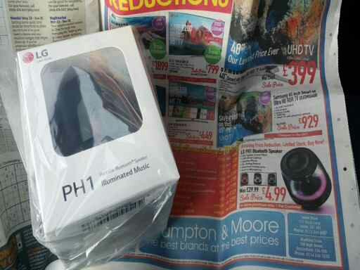 CRAZY LG PH1 BLUETOOTH SPEAKER DEAL! - £4.99 @ Crampton & Moore