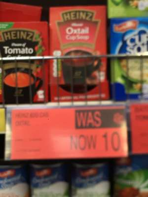 B and M Heinz oxtail cup a soup 10p instore expiry 6/18