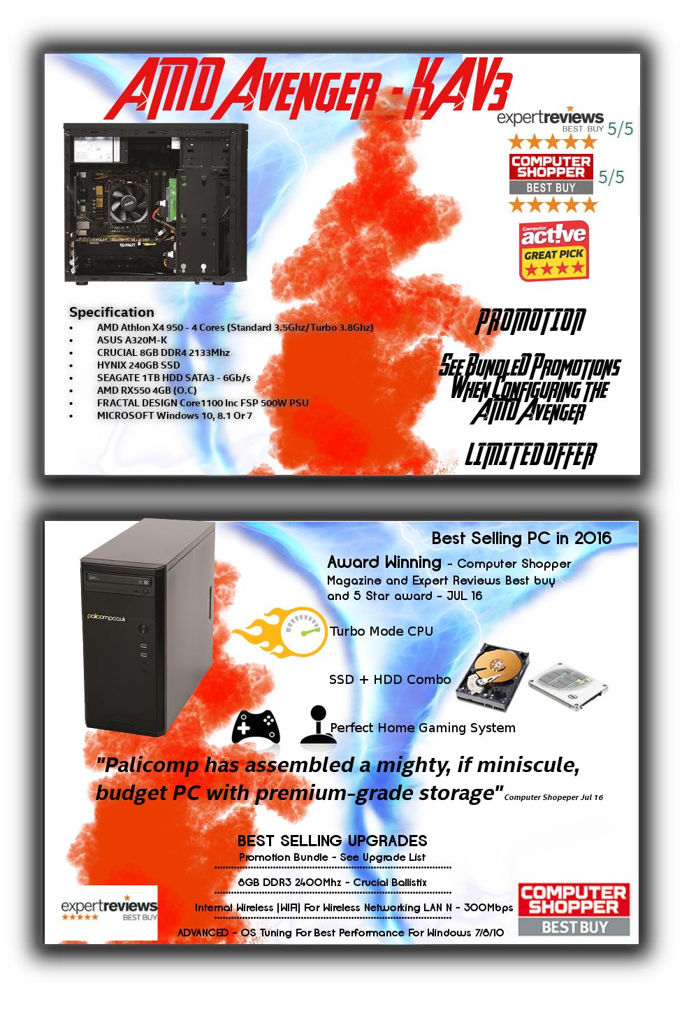 AMD Avenger Home (KAV3-1) PC - £459.99 @ Palicomp