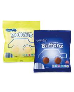 White/Milk chocolate buttons @ Aldi - 33p