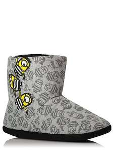 Despicable me3 slipper boots ,older child shoe size 10,11,12 jnr £3 @ Asdageorge