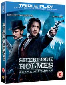 Condition:Very Good   Sherlock Holmes: A Game of Shadows Blu-ray (2012) Blu-ray / + DVD and UltraViolet Copy - Triple Play Robert Downey Jr  £2 @ MUSICMAGPIE