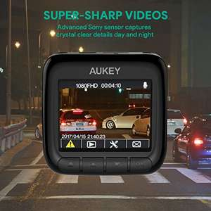 AUKEY Dash Cam 1080P Ultra Compact Car Camera 170° Wide Angle Lens, WDR Night Vision, Motion Detection, G-Sensor and Loop Recording, £33.59 @ Amazon