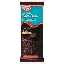Dr Oetker Extra dark 72% cocoa solids Chocolate @ Iceland only 75p