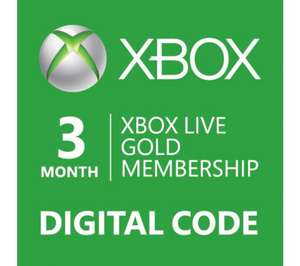 3 Months Xbox Live Gold.£6.00.Account Specific