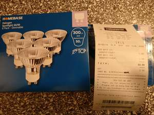 GU10 Halogen Bulbs x6 £1 @ Homebase
