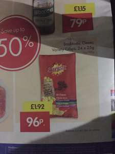 Lidl crisps are 96p for 24 packets, for their weekend special, 3rd and 4th March. This weekend! Includes Worcester sauce flavour, please read edited op, as they must've used an old pic of the Classic crisps