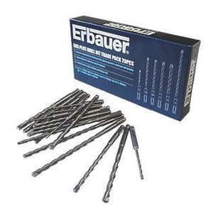Erbauer SDS Plus drill bit bulk pack 20PCS. Was £24.99 now £12.49 @ Screwfix