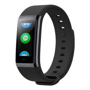[English Version]Original Xiaomi Huami Amazfit Cor MiDong Smart Bracelet 5ATM Waterproof 2.5D Color IPS Touch Screen 316L Stainless Steel Frame 1.23 Inch Bluetooth 4.1 - Black - £29.66 @geekbuying