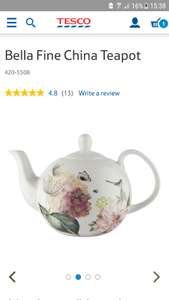 Bone china teapot. Reduced from £10 - instore @ Tesco - £2.50