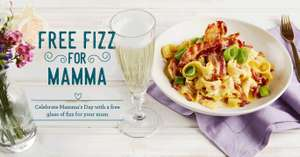 Free Fizz for Mom on Mother's Day @ Bella Italia