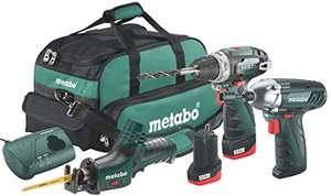 Metabo – 10.8 Volts Combo 3.2 10.8 V BS + ASE + SSD. £160.39 at Amazon.