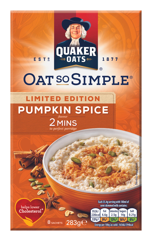 Oat so simple pumpkin spice heron foods 89p instore