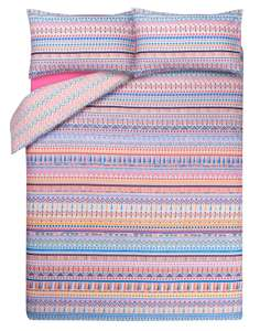 Tassel Stripe Print Duvet Cover - Double £6, King Size £7 @ George (Free C&C)