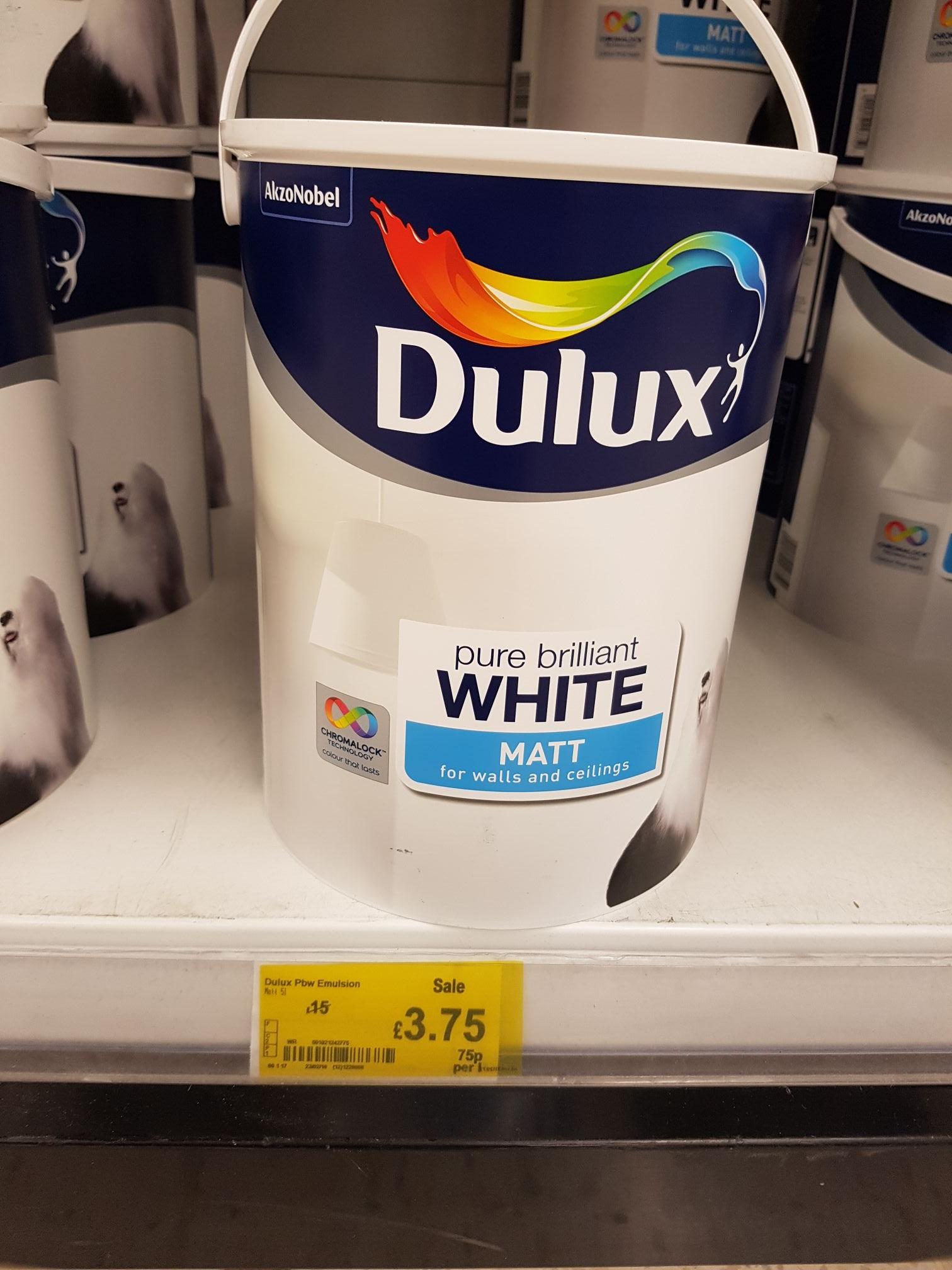 Dulux Pure Brilliant White Matt 5L - £3.75 at Asda instore