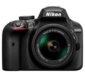 Nikon D3400 DSLR Camera with 18-55mm Lens, £329 with code from argos