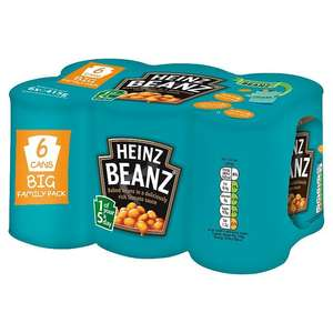 Morrisons Reduced 6 Pack Heinz Spaghetti and Baked Beans now £1.50 instore