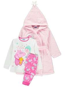 Peppa Pig hooded dressing gown + pyjamas age 7-8 now £8 was £15 @ Asdageorge
