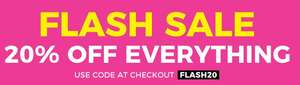 Flash sale today and tomorrow 20% off everything @ Fragrance Shop