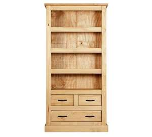 Home San Diego 3 Shelf 3 Drawer Solid Pine Bookcase for £95.99 after 20% off code @ Argos