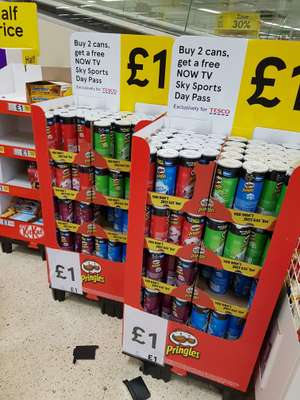 Pringles £1 x 2 get free skysports day pass in local tesco