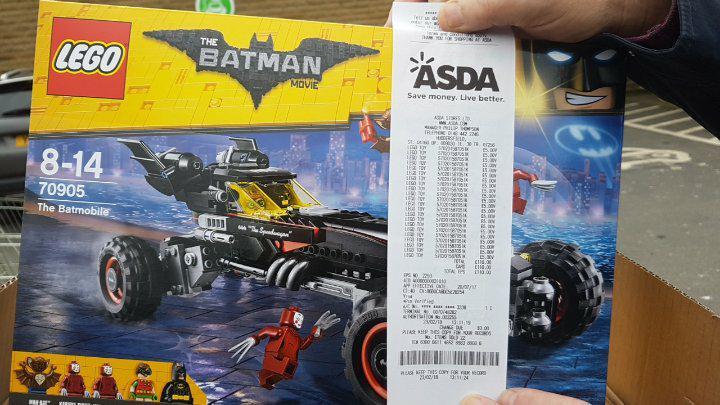 Lego Batman Movie  batmobile 70905 in store at asda huddersfield - £5