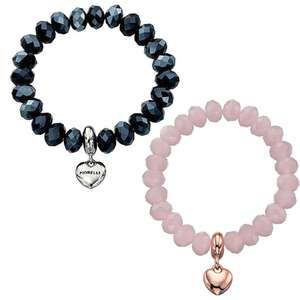 Fiorelli Beaded Bracelet with Silver Tone Heart Charm £11 with free Collect+ @ Very