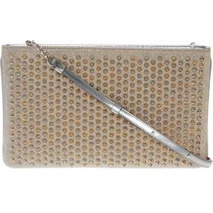 CHRISTIAN LOUBOUTIN Silver & Gold Studded Clutch - £599.99 @ TK Maxx