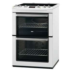 Zanussi ZCV665MWC 60cm Double Oven Ceramic Cooker in White - £298 @ CO-OP Electrical (Member offer)