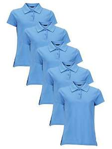 Top Class Pack Of Five Girls Polo Tops in blue or lemon. £3.99 + £3.95 del @ Littlewoods eBay