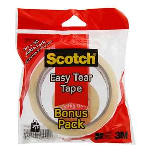 Scotch easy tear tape bonus pack - Asda for 10p