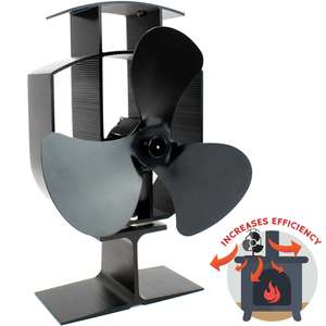 Heat Powered Stove Fan now £19.99 delivered w/code @ Shop4world