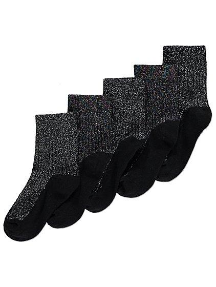 5 pack of sparkling ankle socks size 6- 8.5 jnr size, £2 @ Asdageorge