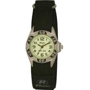 Ravel Children's Glow in the Dark Black Strap Watch (52%) off £4.79 Add On Item @ Amazon