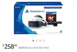 PlayStation VR - GT Sport Bundle $258.00 (dollars) /£184.75 @Amazon US via Emily's store and fulfilled by Amazon