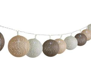 HOME Set of 20 Cotton String Ball Lights (Battery Operated) + Free click and collect at Argos
