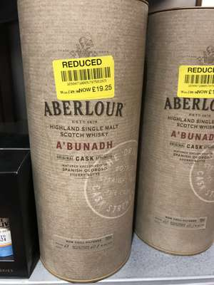 Aberlour A'bunadh Single Malt Whiskey £19.25 at Waitrose