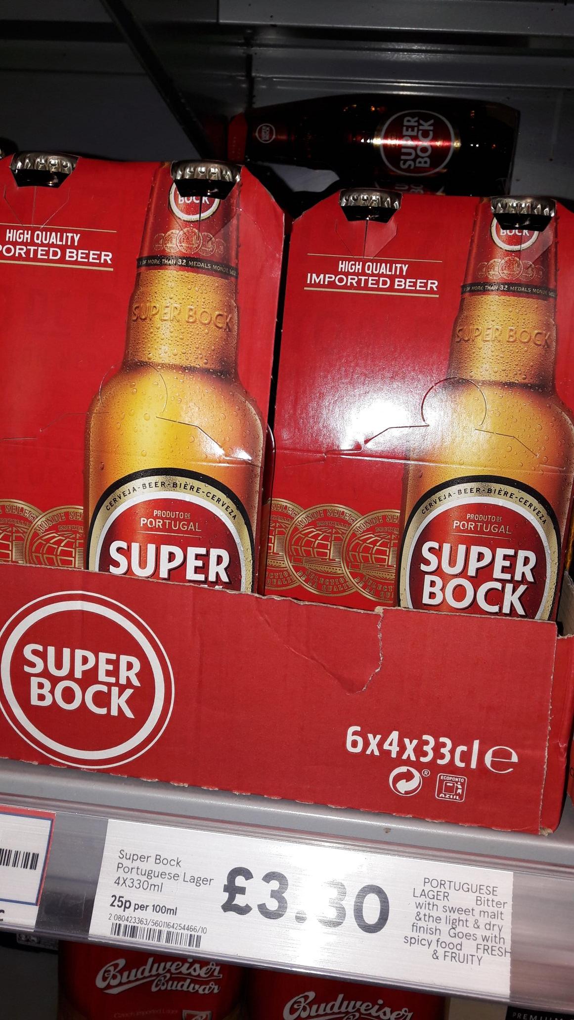 Super Bock Portuguese Lager £3.30 at Tesco