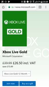 Xbox live gold ....how to save 63% on a yearly subscription....£5.99 a month