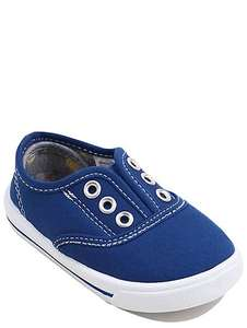 Childrens Lace free canvas trainers size 9 jnr just £1 C+C @ Asda George