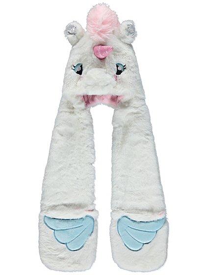 Unicorn fleece lined hooded scarf £4  @ Asda George