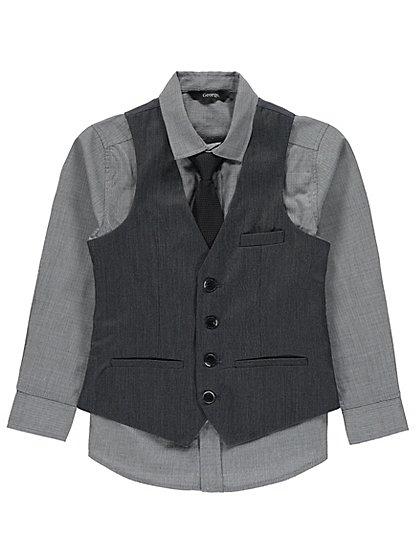 Formal shirt + tie + waistcoat set age 5-6 years £5 was £10 @ Asda George
