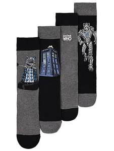 Pack of 4 Doctor Who men's socks £3 @ Asda George