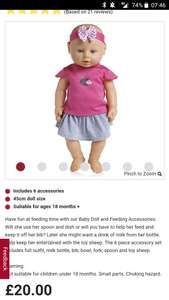 Wilko baby doll was £20 now £5 (and others) reduced instore at Wilko (Bromley)