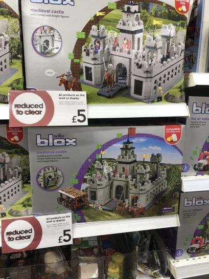 Wilko Blox medieval castle £5. Chatham Pentagon.