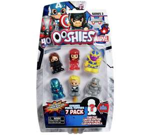Ooshies Marvel & DC comics pack of 7 pencil toppers £4.99 was £10.99 @ Argos
