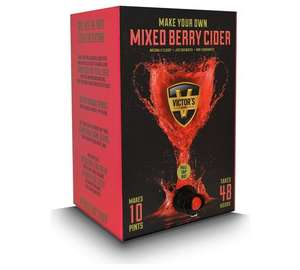 Victor's Drinks Mixed Berry Cider Home Brew Kit - 10 Pint + Free click and collect at Argos
